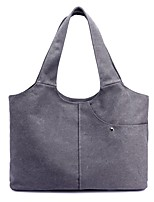 Women Bags All Seasons Canvas Shoulder Bag Zipper for Casual Coffee Gray Beige Blue