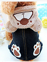 Dog Clothes/Jumpsuit Dog Clothes Casual/Daily Cartoon Brown Gray