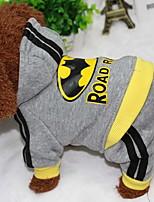 Hund Mäntel Kapuzenshirts Hundekleidung Lässig/Alltäglich Buchstabe & Nummer Grau