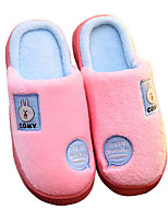 Girls' Shoes Flocking Winter Comfort Slippers & Flip-Flops For Casual Light Blue Blushing Pink Red Dark Blue
