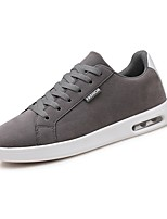 Men's Shoes Leather Spring Fall Light Soles Sneakers Lace-up For Casual Brown Gray Black
