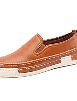 Men's Shoes PU Spring Fall Comfort Loafers & Slip-Ons For Casual Black Gray Brown Khaki