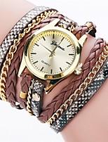 Women's Fashion Watch Simulated Diamond Watch Bracelet Watch Chinese Quartz Imitation Diamond PU Band Charm Elegant Casual Black White