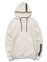 Men's Sports Holiday Hoodie Color Block Hooded Micro-elastic Polyester Long Sleeve Spring Fall