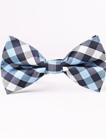 Men's Rayon Cotton Blend Bow Tie,Grid Houndstooth All Seasons