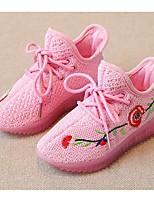 Fille Chaussures Tulle Printemps Automne Confort Basket Pour Décontracté Blanc Noir Gris Rose
