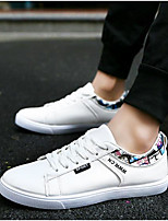 Men's Shoes PU Spring Summer Comfort Sneakers For Casual Outdoor Blue Black White
