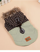 Dog Coats Dog Clothes Casual/Daily Geometic Green