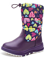 Girls' Shoes Leatherette Fall Winter Snow Boots Boots For Casual Red Purple