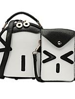Women Bags All Seasons PU Bag Set Zipper for Shopping Casual Black Blushing Pink