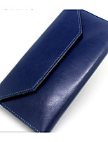 Women Bags Cowhide Wallet Zipper for Event/Party Formal All Seasons Blue Black