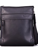 Men Bags All Seasons Cowhide Shoulder Bag Zipper for Casual Khaki Brown Black