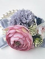 Свадебные цветы Букетик на запястье Свадебное белье Около 10 см
