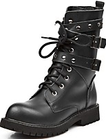 Women's Shoes Nappa Leather Fall Winter Fashion Boots Boots Mid-Calf Boots For Casual Outdoor Party & Evening Black