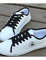 Hombre Zapatos PU Primavera Otoño Suelas con luz Zapatillas de deporte Para Casual Rojo Negro/blanco Blanco/Azul