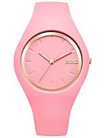 Жен. Модные часы Кварцевый силиконовый Группа Синий Зеленый Розовый Фиолетовый