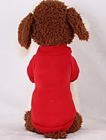 Dog Hoodie Sweatshirt Dog Clothes Casual/Daily Solid Black Red Pink Light Blue