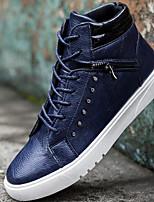Для мужчин обувь Полиуретан Весна Осень Светодиодные подошвы Кеды Назначение Повседневные Черный Желтый Синий