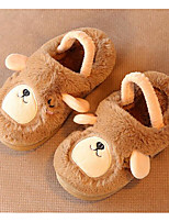 Girls' Shoes Fleece Fall Winter Comfort Slippers & Flip-Flops For Casual Blushing Pink Blue Green Brown
