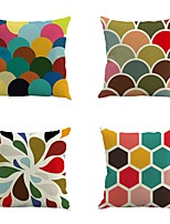 Set Of 4 Mixed Color Geometry Pattern Pillow Cover Square 45*45Cm Pillow Case Sofa Cushion Cover