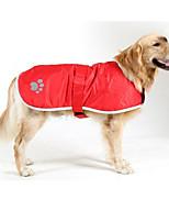 Dog Coat Dog Clothes Keep Warm Waterproof Solid Jade Blue Red Orange