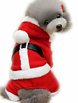 Dog Jumpsuit Dog Clothes Christmas Christmas New Year's British Red Costume For Pets