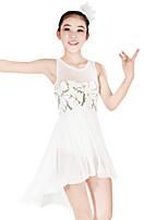 Balletto Vestiti Per donna Per bambini Esibizione Elastico Elastene Con strass Licra Paillettes Senza maniche Naturale Abiti Accessori