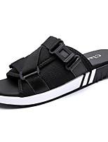 Herren Schuhe Tüll Sommer Komfort Sandalen Für Normal Schwarz