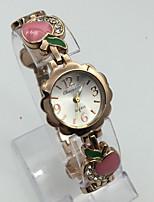 Femme Bracelet de Montre Montre Bracelet Montre Tendance Quartz Alliage Bande Décontracté Or Rose