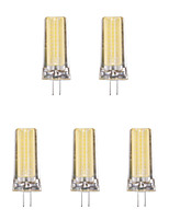 5pcs 4W G4 LED Bi-pin Lights 1 leds COB Warm White Cold White 1lm 3500/6500K AC 220-240V