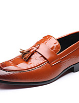 Men's Shoes Leatherette All Season Driving Shoes Comfort Loafers & Slip-Ons Draped For Casual Outdoor Red Yellow Black