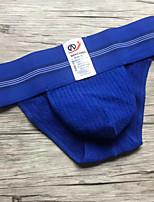 Men's Sexy Solid Briefs  Underwear,Cotton Polyester Spandex