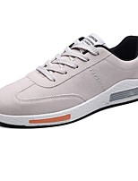 Men's Shoes Cashmere Spring Fall Light Soles Sneakers Lace-up For Casual Red Gray Black
