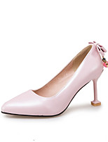 Women's Shoes Leatherette Fall Comfort Novelty Heels Stiletto Heel For Wedding Party & Evening Blushing Pink Beige Black