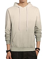 Men's Daily Plus Size Casual Hoodie Color Block Hooded Micro-elastic Cotton Polyester Long Sleeve Winter Fall