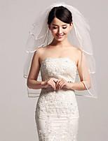 voiles de coude de voile de mariage à quatre niveaux avec des accessoires de mariage de tulle de volants