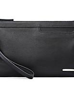 Men Bags All Seasons Sheepskin Clutch Zipper for Event/Party Formal Black