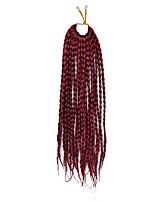 dreadlocks 1pc / pack Trecce di capelli intrecciato Afro Havana Twist 35cm Borgogna Capelli intrecciati Extensions per capelli