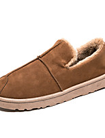 Men's Shoes Fabric Fall Winter Fluff Lining Comfort Loafers & Slip-Ons For Casual Outdoor Brown Gray Black