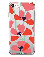 baratos -Capinha Para Apple iPhone X iPhone 8 Estampada Capa traseira Flor Macia TPU para iPhone X iPhone 8 Plus iPhone 8 iPhone 7 Plus iPhone 7