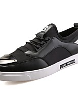 Men's Shoes Fabric Spring Fall Comfort Sneakers For Casual Silver Black