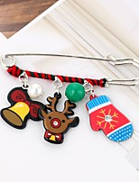 Men's Women's Brooches Cute Style Chrismas Alloy Animal Shape Jewelry For Christmas Going out