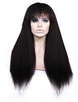 жен. Парики из натуральных волос на кружевной основе Бразильские волосы Натуральные волосы Реми Бесклеевая кружевная лента 130% 150% 180%