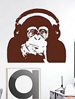 Animaux Stickers muraux Autocollants avion Verrou à clé Matériel Décoration d'intérieur Calque Mural