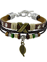 Men's Women's Leather Bracelet Vintage Rock Leather Alloy Jewelry Jewelry For Casual Street