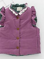Girls' Solid Down & Cotton Padded Blushing Pink Purple