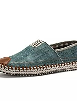 Men's Shoes Denim Spring Fall Comfort Loafers & Slip-Ons For Casual Blue Green Brown