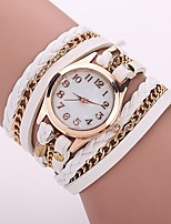 Per donna Orologio alla moda Orologio braccialetto Orologio casual Cinese Quarzo PU Banda Stile Boho Casual classe Nero Bianco Blu Rosso