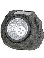 1PCS Solar Path Lights 4 LED Pathway Landscape Colophony Fake Stone Lamp For Garden Night Light