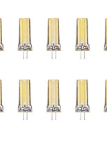 10pcs 4W G4 LED Bi-pin Lights 1 leds COB Warm White Cold White 340lm 6500/3500K AC 220-240V